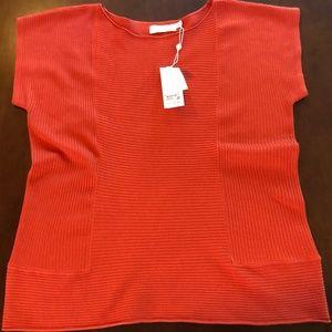 Tory Burch Cotton Tangerine Preston Sweater M